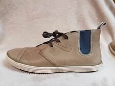 Tretorn Oken Boots Smoke Tan Casual Boat Leather Lace Shoes Size Men's 7.5 M New