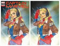 CAPTAIN MARVEL #16 PEACH MOMOKO TRADE & VIRGIN VARIANT SET MARVEL - NM or Better