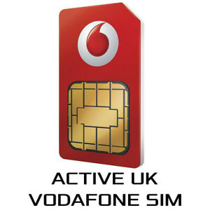 UK Vodafone SIM Card +44 Active Activated Option Receive free SMS Verification
