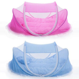 Infant Baby Foldable Travel Bed Crib Canopy Mosquito Net Tent for 0-18 Month