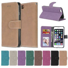 Matte 3 Card S lot Holder Wallet PU Leather Flip Case Cover For Samsung Galaxy