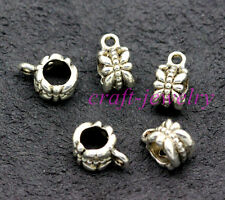Tibetan Silver Spacer Bail Beads Charms Jewelry Making 11x8mm 30-500pcs 1g
