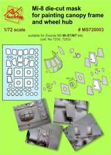 MI-8 DIE-CUT MASK FOR PAINTING CANOPY FRAME AND WHEEL HUP DAN MODELS MS720003