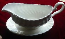 Johnson Brothers Regency White Gravy Boat and Saucer Superb