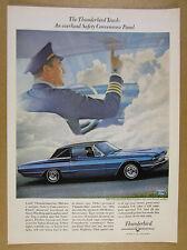 1966 Ford Thunderbird Town Landau blue t-bird photo vintage print Ad