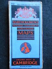 Vintage Ordnance Survey Folding Map of Cambridge - 1936 - England Sheet 19