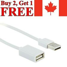 USB to USB Extension Cable 2.0 Male to Female Data Charger Extender 50cm