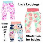 NWT LACE LEGGINGS STRETCHIES Bonds Baby Boys Girls Prints Size 0000 000 00 0 1 2