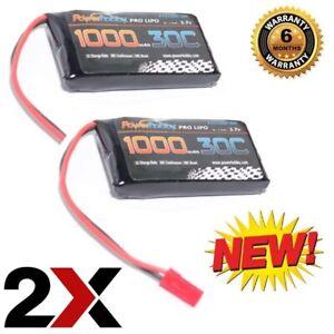 Powerhobby 1S 3.7V 1000Mah 30C Lipo Battery w JST Connector (2)