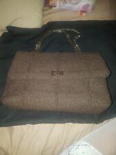 Chanel Jumbo 2.55 Reissue Wool Chain Bag