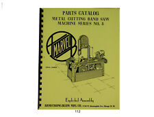 Marvel Series 8 Metal Cutting Band Saw Parts Catalog 112