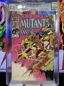 New Mutants Annual #2 CGC 8.5 1986 1st US app. Psylocke