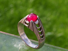 Antique Argent Orient Bague avec Rubinstein Old Ruby Ring Silver Afghanistan nr:69