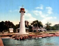"1901 Biloxi Lighthouse, Biloxi, MS Vintage Photograph 8.5"" x 11"" Reprint"
