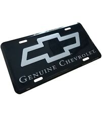 New GENUINE CHEVROLET Metal License Plate Stamped Chevy Bow auto car truck Tag