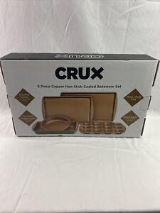 Crux 5 Piece Copper Non-Stick Coated Bakeware Set