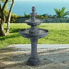 "Italian Outdoor Floor Water Fountain 44"" 3 Tiered Pineapple for Yard Garden Home"