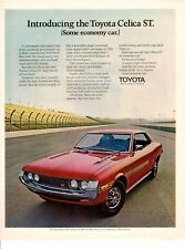 Vintage automobile Print car ad Introducing the Toyota Celica ST 1971 ad