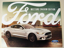 Ford . Mustang . Ford Mustang Shadow Edition . June 2017 Sales Leaflet