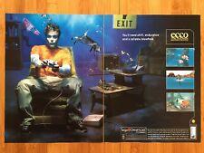Ecco the Dolphin Sega Dreamcast 2000 Vintage Poster Ad Art Print Echo Genesis