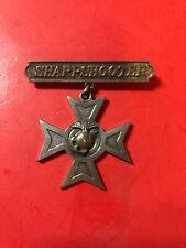 USMC Marine Corps Sharpshooter Rifle Badge WW I WW II Eagle Globe Anchor Long pn