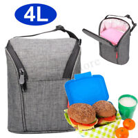 4L Insulated Lunch Box Bag Tote Cold Thermal Cooler Travel Work School
