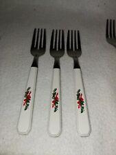 PFALTZGRAFF Christmas Heritage Stainless Flatware Silverware 3 Salad Forks
