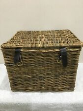 Wicker basket with lid and packaging from Betty's