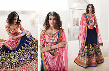 Bollywood Indian Lehenga Choli Wedding Lengha Party Wear Sari Blue Lehenga Choli