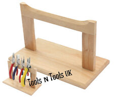 POLISHED SURFACE HARD WOOD PLIERS RACK STAND JEWELRY WORK WOODEN BENCH ORGANIZER