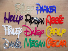 Any Name DISNEY Personalised Acrylic Plaques Board wall/door craft/sign Plastic