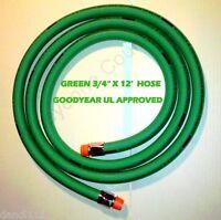 """GOODYEAR 3/4"""" x 12' FLEXSTEEL Green HARDWALL DIESEL FUEL HOSE 559N"""