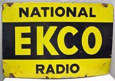 VINTAGE EKCO RADIO SIGN ADVERTISING PORCELAIN ENAMEL ENGLAND RARE COLLECTIBLES