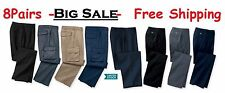 8 Used Work Pants - Available Colors-Black, Blue , Grey - FREE Priority Shipping