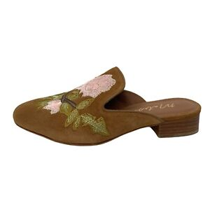 """Matisse """"Bianca"""" Flats Mules Suede Embroidered Made in Brazil Size 8 M"""