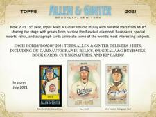 2021 Allen & Ginter Mini Cards - Pick Your Card (Base, Inserts, A&G Back, Black)