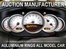 Porsche 996 / 911 Instrument Cluster Chrome Rings Gauge Speedometer Trim 5psc