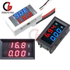 Digital Dc 100v Dual Led Blueredredred Volt Amp Meter Gauge Voltmeter Ammeter