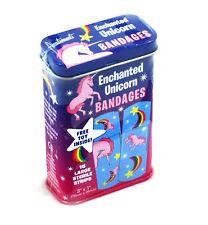 Enchanted Unicornio-primera ayuda en una lata-yesos/Band Aids