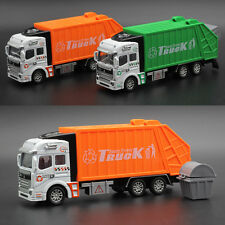 1:32 Garbage Truck Model Back of the Car Simulation Sanitation Toys Kids Alloy