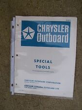 1977 Chrysler Outboard Special Tools Catalog OB693-8 MORE BOAT ITEMS IN STORE  V
