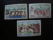 COTE D IVOIRE - timbre-yvert et tellier n° 201 a 203 n** (non dentele) (A7)stamp