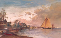 Oil painting Francis A. Silva - Along the Connecticut Shore free shipping cost