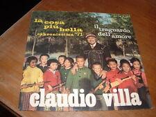 """CLAUDIO VILLA  CANZONISSIMA'71 """"LA COSA PIU' BELLA"""" ITALY"""