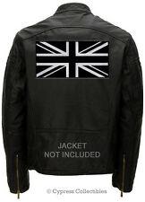 LARGE BLACK UNION JACK FLAG PATCH embroidered UK iron-on GREAT BRITAIN ENGLAND