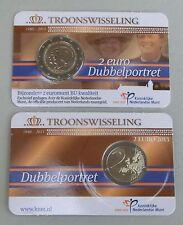 2 Euro Niederlande 2013 Thronwechsel Beatrix Willem in Coincard bu/st