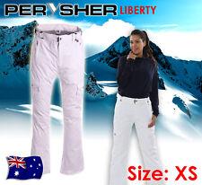 PERYSHER LIBERTY Womens Ski & Snowboard Pants: Ladies, Snowy White, Extra Small