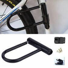 Bike Motorbike U Lock Cycle Scooter Bicycle Strong Heavy Duty Security + Keys