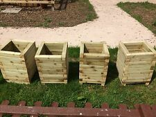 Large Square Wooden Planters 480 mm tall X 4,Assembled,Extra treated.