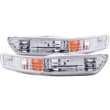 Anzo 511021 Parking Turn Signal Light Lamp Chrome Amber for 1998-2001 Integra